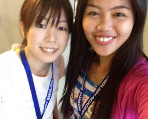 AyakoさんとAdviserのTeacher Nelsa!